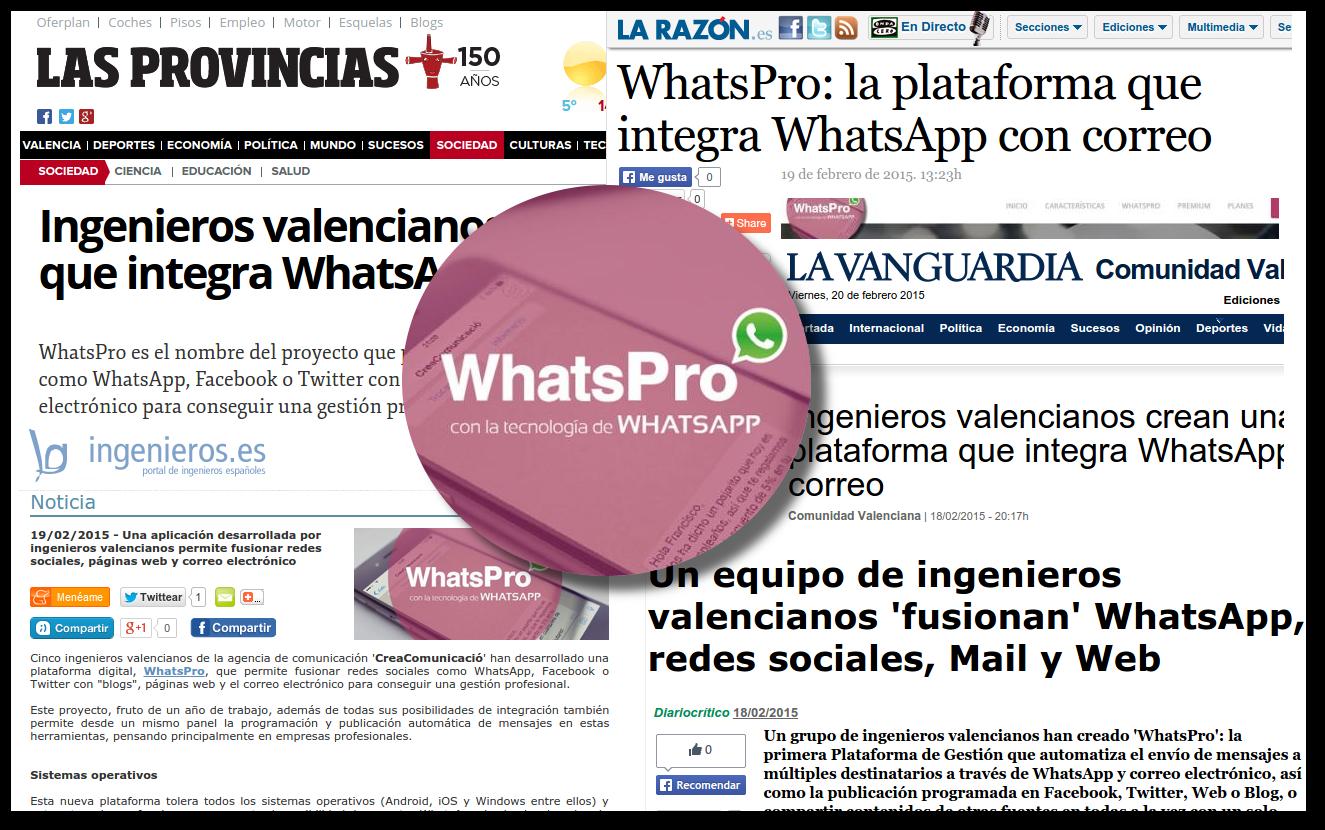 WhatsPro, desarrollado por CreaComunicació, es noticia